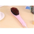 Hot sale digital LCD electric hair straightening comb brush as seen as tv professional hair straightener brush comb