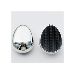 silver detangle hair brush