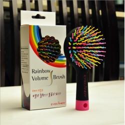 branded rainbow hair brush
