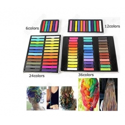 24 Colors Fashion Hot Fast Non-toxic Temporary Pastel Hair Dye Color Chalk for hair