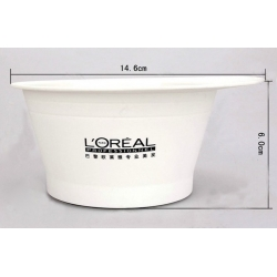 hair dyeing bowl white